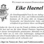 Wir haben Abschied von Eike Haenel genommen